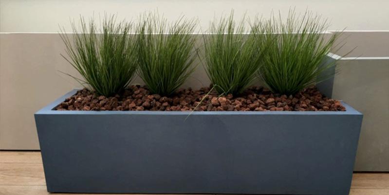 microcemento jardinera