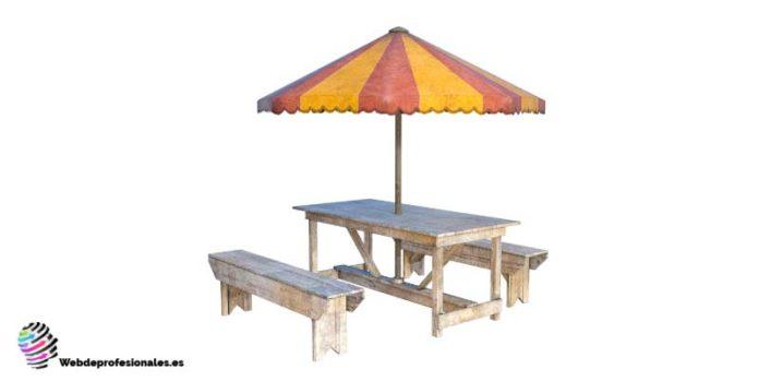 como hacer una mesa de picnic